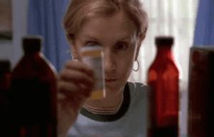 Lynette goes for the medicine cabinet