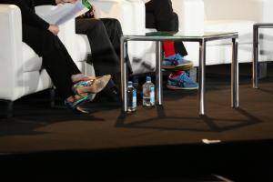 A study in shoe contrast: me, Amir Rubin and Aaron Levie
