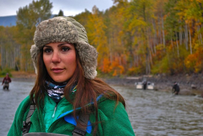 April Vokey on her home river @adriennecomeau photo