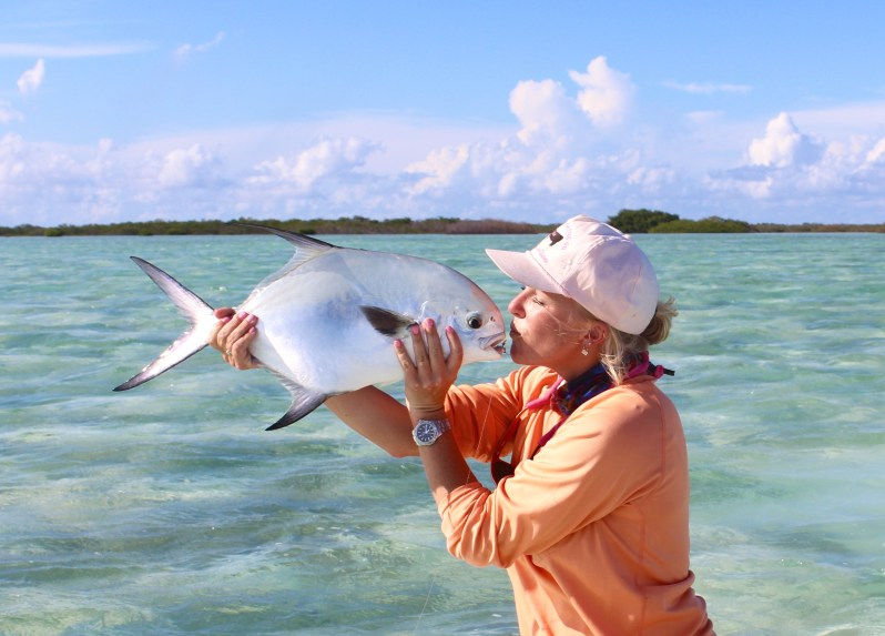 Bessie Hudgens permit fly fishing