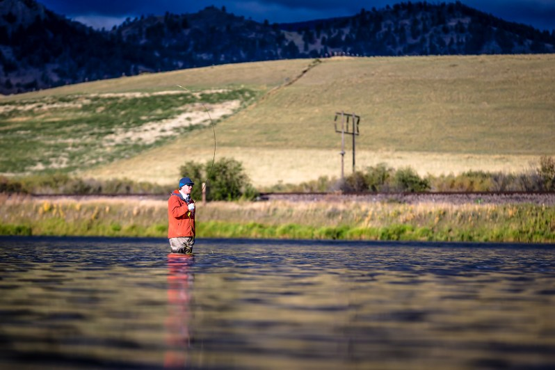 Fly fishing Missouri River
