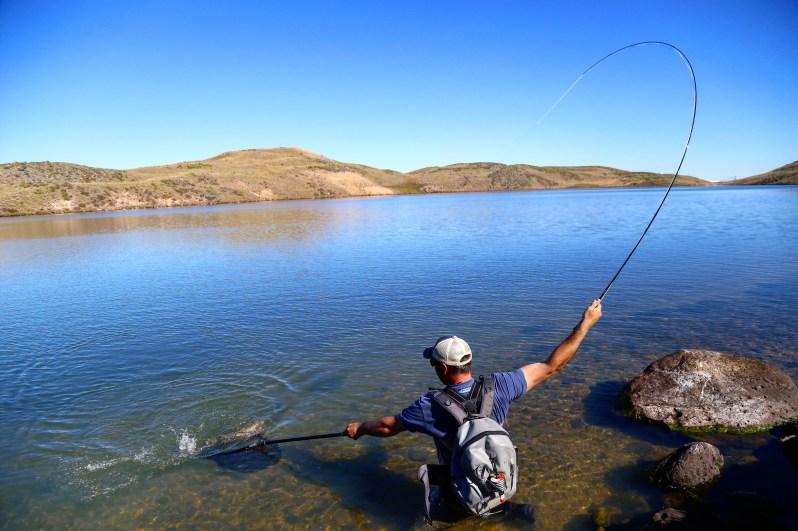 Kyle Kolodziejski fly fishing