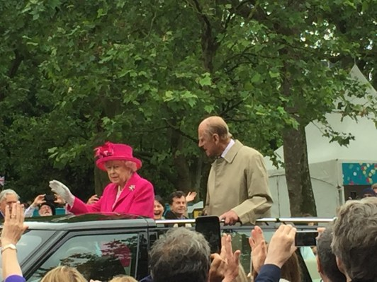 Her Maj looking pretty in pink