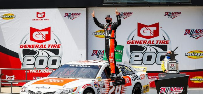 Corey Heim Continues Hot Steak, Completing Superspeedway Sweep with Win at Talladega