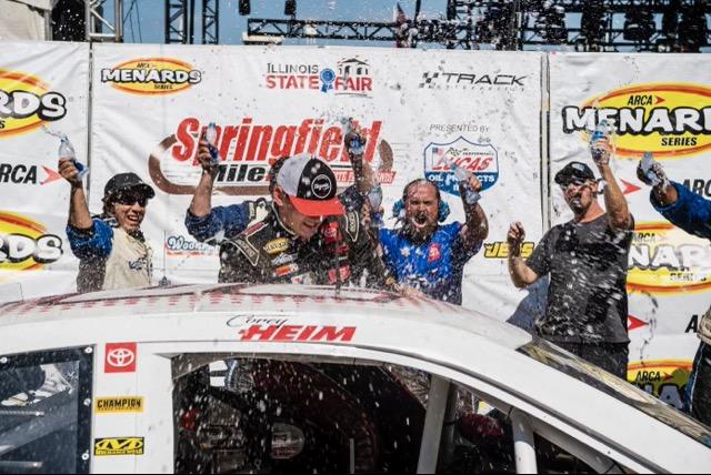 Corey Heim Dominates Springfield Winning Sixth Race of Season