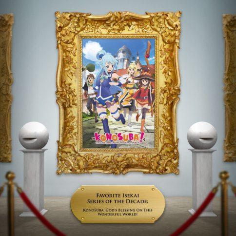konosuba key art framed