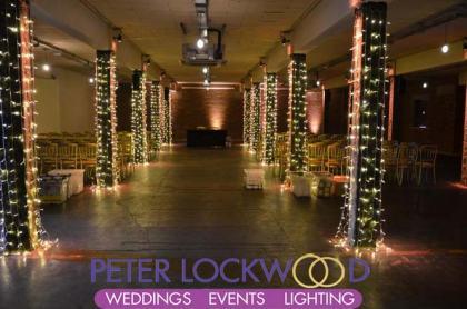 column fairy lights in victoria warehouse manchester