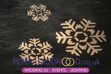 snowflakes for a winter wonderland wedding