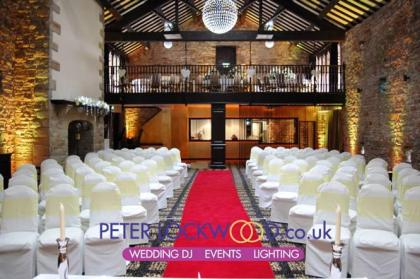 Lancashire Manor Hotel with yellow mood lighting