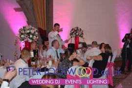 The Tilden Suite at Shrigley Hall Hotel with Pink wedding Lighting