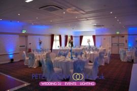 blue uplighting in broadfield hotel rochdale
