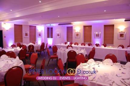 purple mood lighting in the Crompton suite in Smokies Oldham