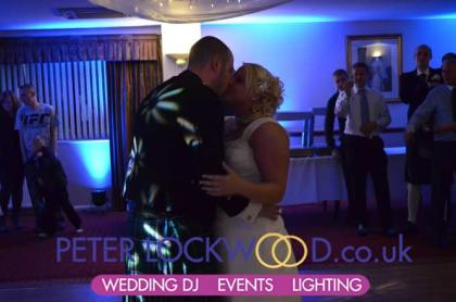 First Dance with Blue mood lighting