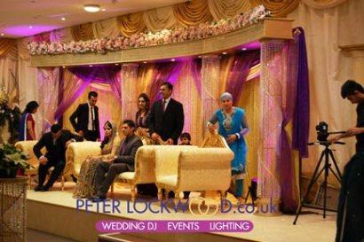asian wedding uplighting