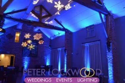 wedding lighting at Arley Hall by peter lockwood