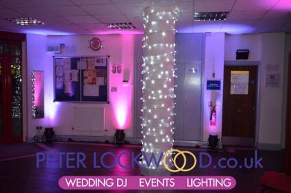 pillar string lighting