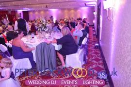 Lilac wedding lighting