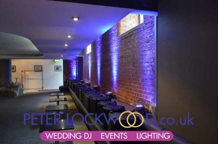 lower bar wedding lighting