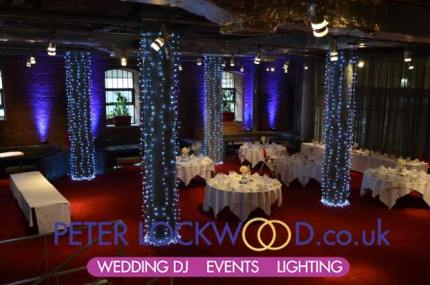 purple wedding lighting in manchester