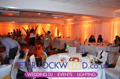 novotel worsley gold  wedding lighting