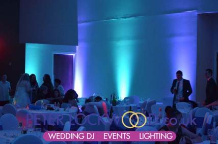 wedding lighting in Irish World Heritage Centre
