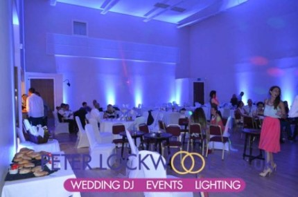Irish Centre Wedding Lighting