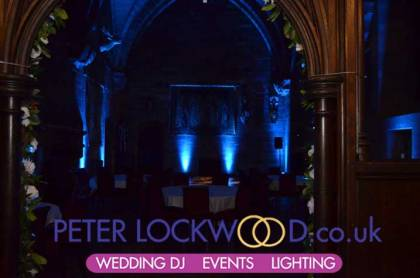 peckforton castle wedding mood lighting