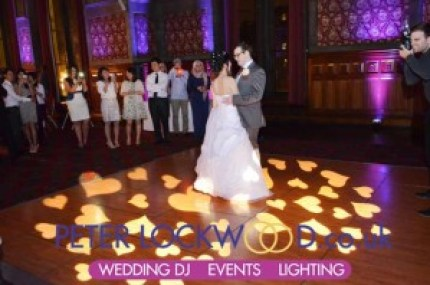 wedding-dj-with-love-hearts-on-dance-floor-for-first-dance-in-manchester-town-hall