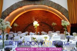 Tilden Suite orange wedding lighting hire