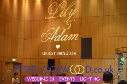 big-wedding-monogram-in-the-hilton-manchester