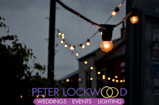 black cable festoon lighting hire in manchester lancashire