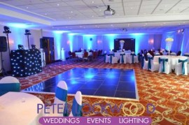 worsley marriott wedding lighting