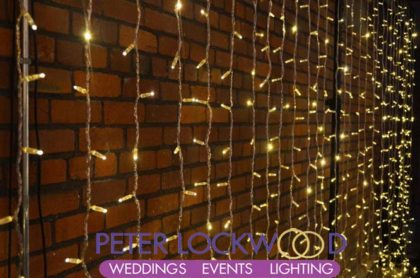 fairy light wedding backdrop