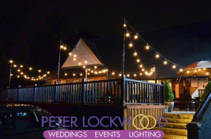 Festoon Lighting Canopy at the Worsley Marriott
