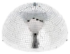 1/2 height silver mirror ball