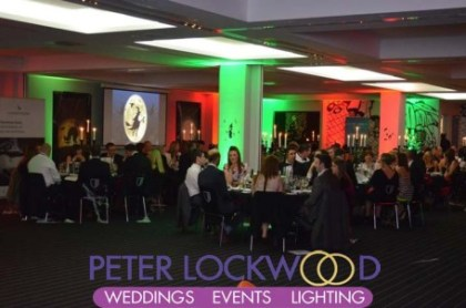 Hotel Football UpLighting Hire by Peter Lockwood Events