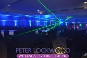 midland hotel blue prom uplighting