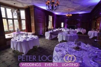 purple wedding lighting at inglewood manor.