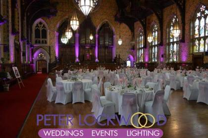 Rochdale Town Hall Wedding Lighting