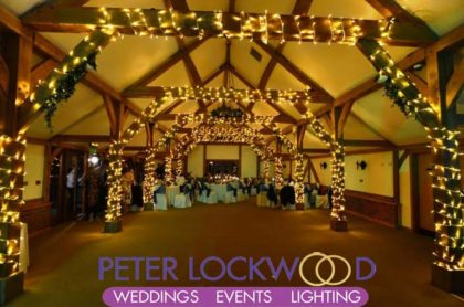 Sandhole Oak Barn Wedding Lighting