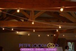 white cable festoon lighting