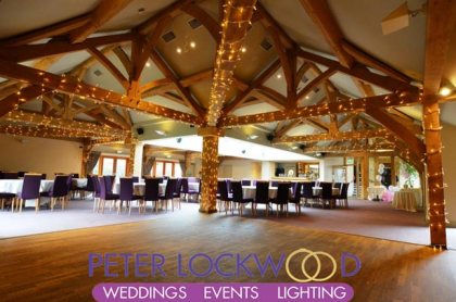 White Hart fairy lights on oak beams