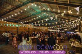 wedding Barn Festoon Lighting