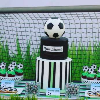 Football Theme Birthday Party Cake