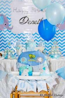 Blue Elephant Theme Birthday Party Decoration 6