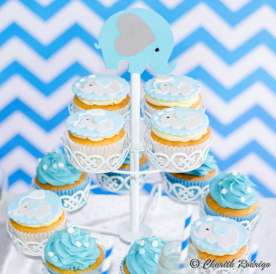 Blue Elephant Theme Birthday Party Food 11