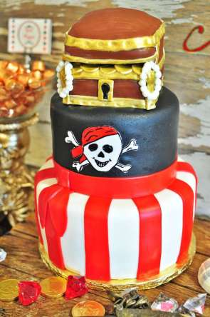 Pirate Theme Birthday Party Cake 2