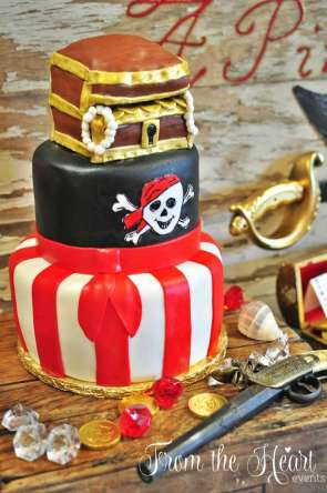 Pirate Theme Birthday Party Cake 3