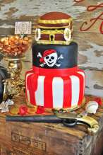 Pirate Theme Birthday Party Cake