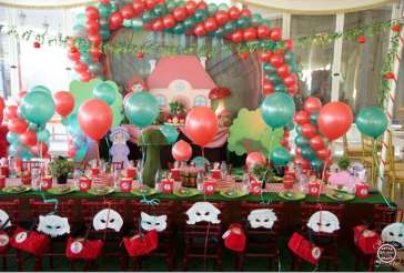 Little Red Riding Hood Theme Birthday Party Kids Table